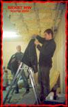 После закладки утеплителя в потолок