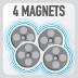 Магниты сумки GIVI EA102B