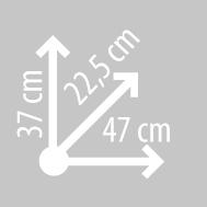 Размеры кофра KAPPA K22N