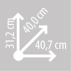 Размеры кофра KAPPA K30N