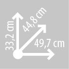 Размеры кофра KAPPA K355N