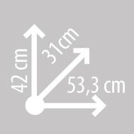Размеры кофра KAPPA KGR46