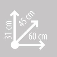 Размеры кофра KAPPA KGR52