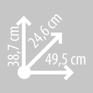 Размеры кофра KAPPA KVE37A