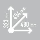 Размеры кофра KAPPA KVE48A