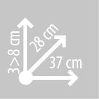 Размеры сумки на бак KAPPA LH204