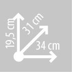 Размеры кофров KAPPA RA300