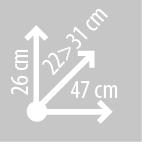 Размеры сумки KAPPA RA310